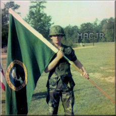 MACJR Flag holder - Graduation Day - Fort Benning, Georgia - April 1983